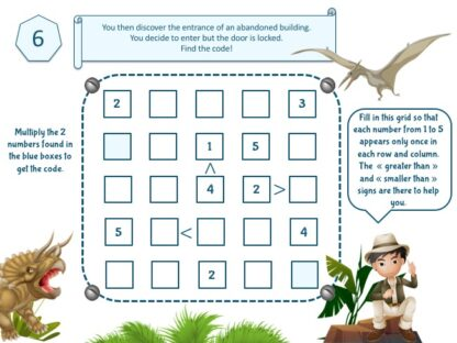 dinosaur escape game clue to print for kids