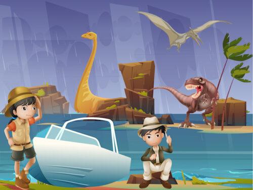 dinosaur escape party game