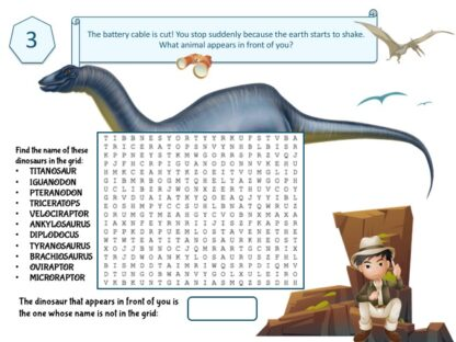 dinosaur word search puzzle