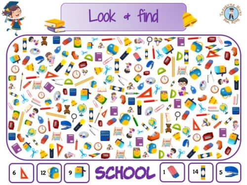 school look and find puzzle