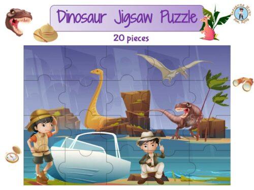 Dinosaur jigsaw puzzle to print