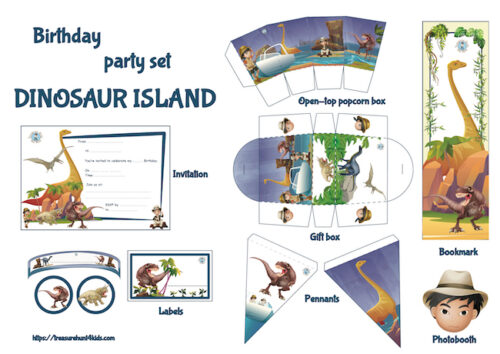 Dinosaur party supplies and decorations