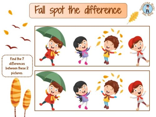 Fall spot the difference game