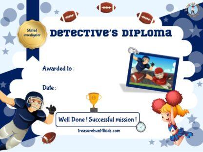 Football detective certificate