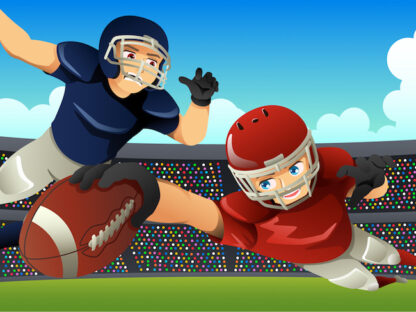 Football investigation game for kids