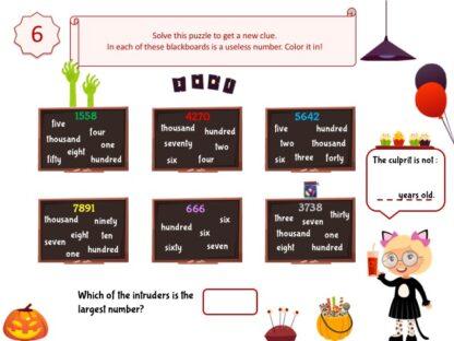 Halloween detective game clue