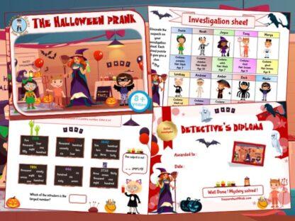 Halloween detective game kit to print