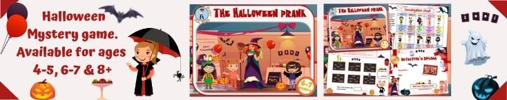 Halloween detective mystery game for kids