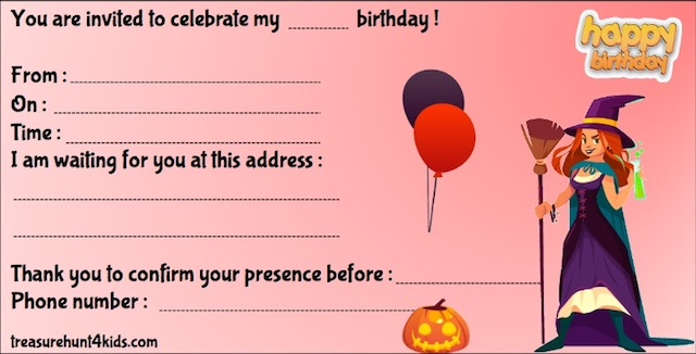 Halloween printable invitation