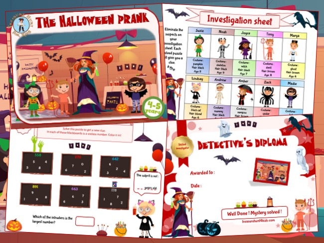 Halloween printable game for 4-5 year olds