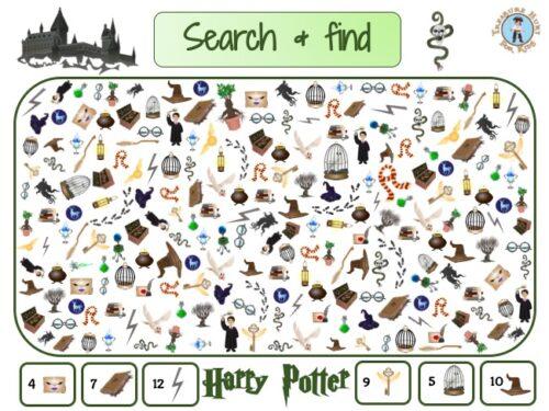 Harry Potter I spy printable game