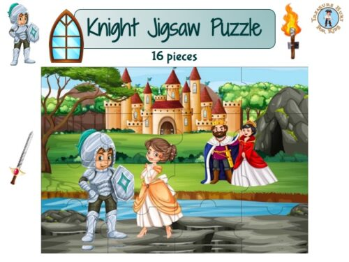 Knight jigsaw puzzle to print