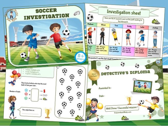 Soccer birhday game to print