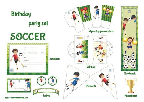 Soccer birthday party printables
