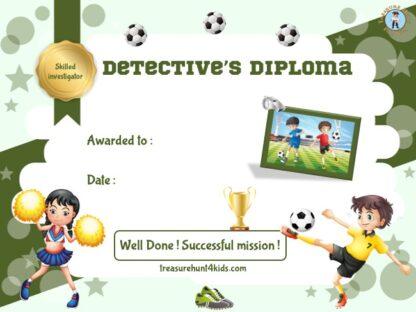 Soccer detective diploma