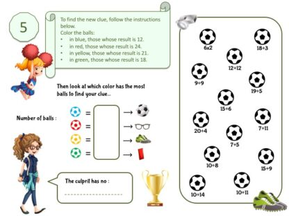 Soccer mystery game clue