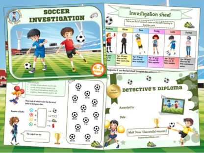 Soccer mystery party game for 6-7 year olds