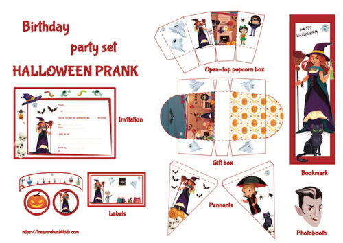 Halloween party decoration to print