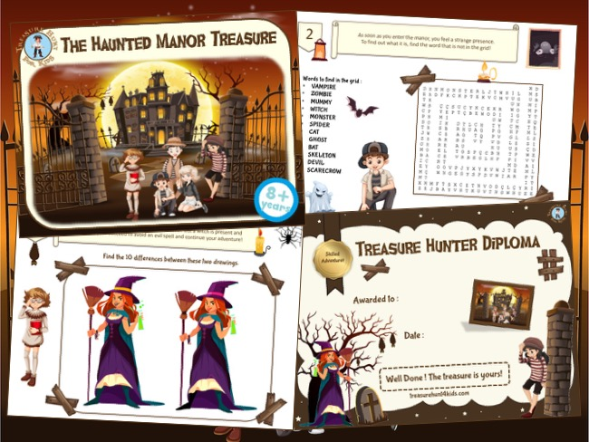 Haunted house mystery party game kit to print